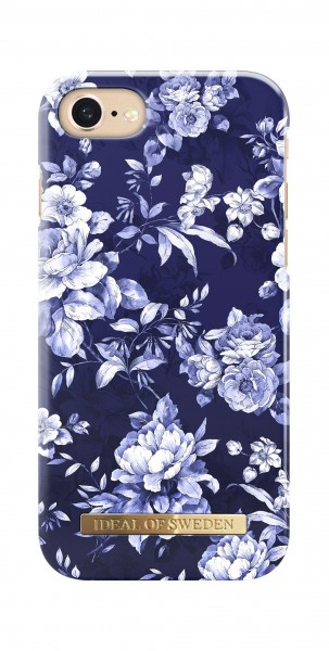 iDeal of Sweden Fashion Back Case Sailor Blauw Bloom voor iPhone 8 7 6s 6