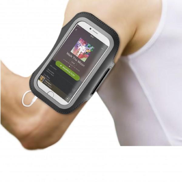 BeHello Universele Sportarmband Maat XL (oa iPhone 8 iPhone 7 iPhone 6) - Zwart
