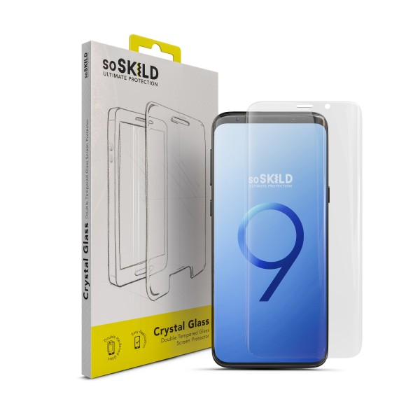 SoSkild Edge to Edge Tempered Glass Screen Protector voor Samsung Galaxy S9+