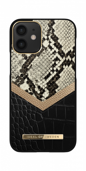 iDeal of Sweden iPhone 12 mini Fashion Back Case Midnight Python