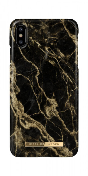 iDeal of Sweden iPhone X / XS Fashion Case Golden Smoke Marble