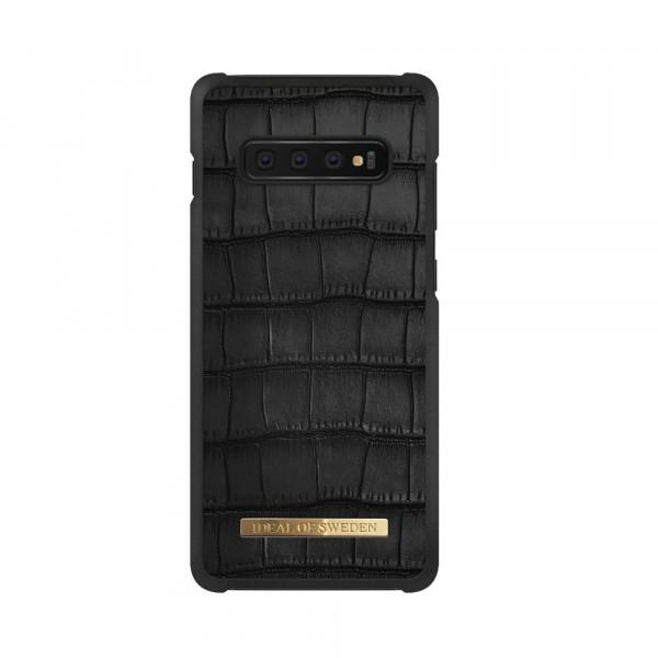 iDeal of Sweden Samsung Galaxy S10 Fashion Case Capri Black Croco