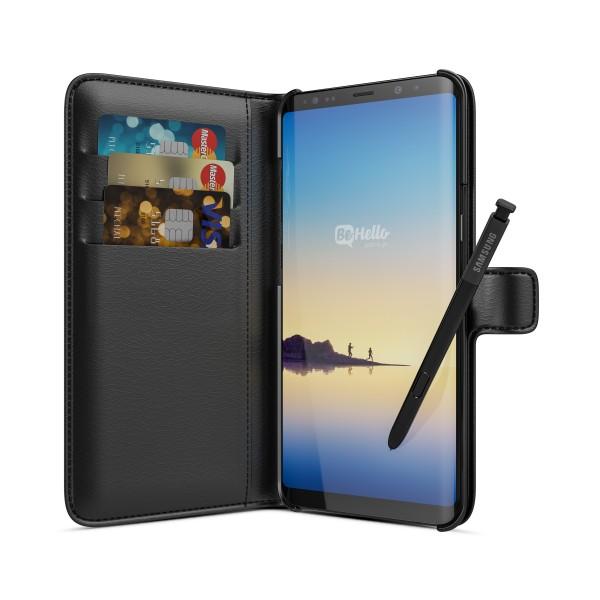 BeHello Samsung Galaxy Note 8 Hoesje - Wallet Case Met Ruimte Voor 3 Pasjes Zwart
