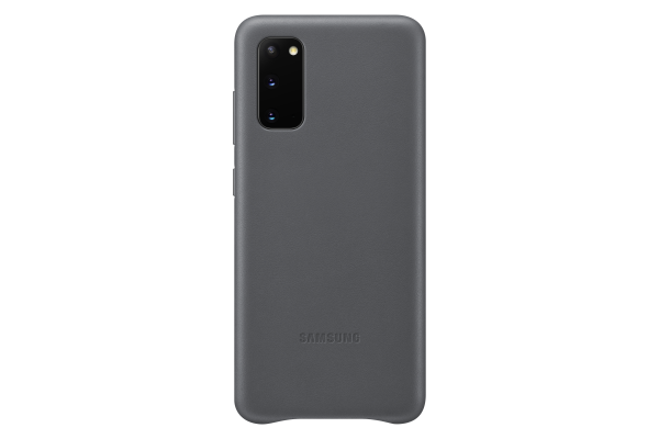 Samsung Galaxy S20 Leather Cover Grey