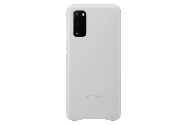 Samsung Galaxy S20 Leather Cover Light Grey