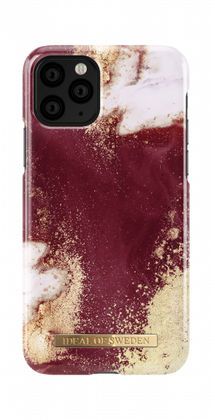 iDeal of Sweden iPhone 11 Pro Fashion Case Golden Burgundy Marble