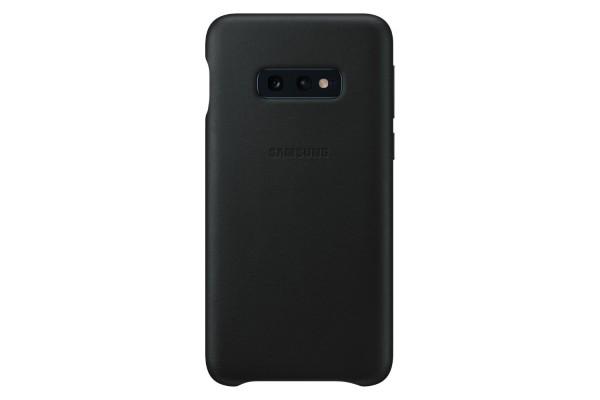 Samsung Galaxy S10E Leather Cover Black