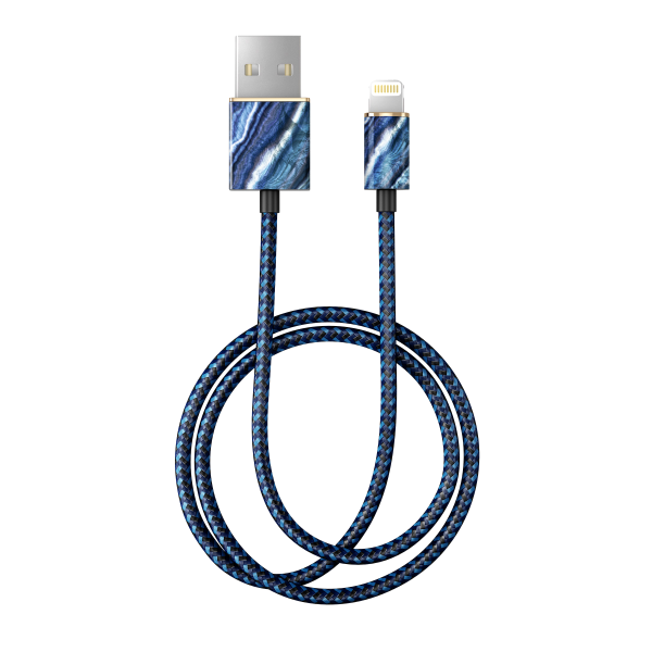 iDeal of Sweden Charge and Sync Lightning Fashion Cable 1m Indigo Swirl