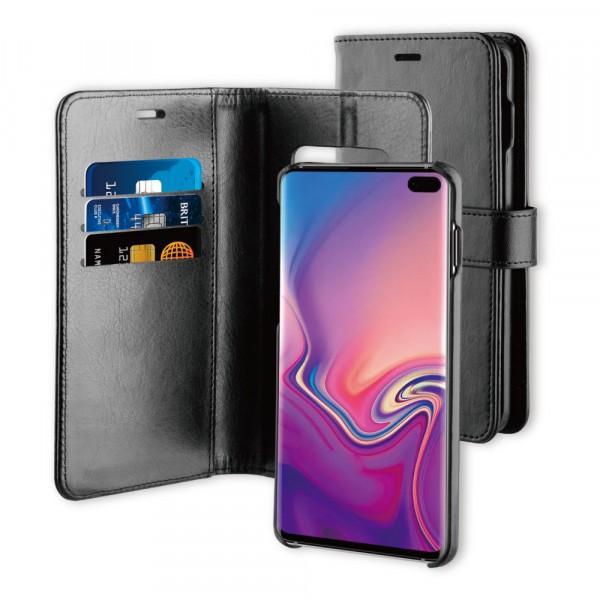 BeHello Samsung Galaxy S10+ Hoesje I 2-in-1 Wallet Case met Ruimte Voor 3 Pasjes Zwart