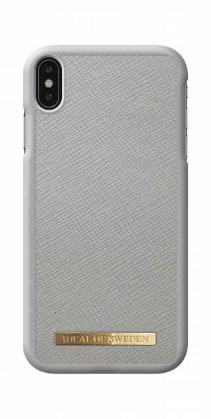 iDeal of Sweden iPhone XS Max Fashion Case Saffiano Light Grey