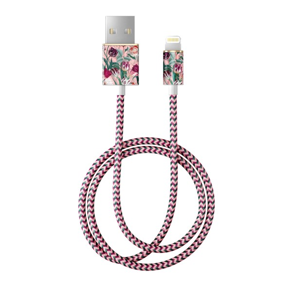 iDeal of Sweden Charge and Sync Lightning Fashion Cable 1m Vintage Tulips