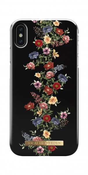 iDeal of Sweden Fashion Back Case Dark Floral voor iPhone Xs Max