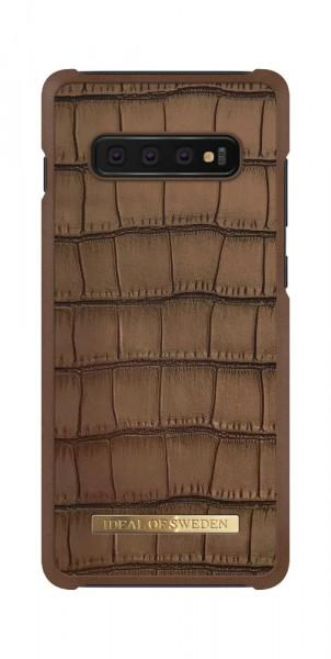 iDeal of Sweden Samsung Galaxy S10+ Fashion Case Capri Brown Croco