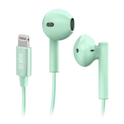 SBS In-Ear Wired Headphones with Lightning Connector Studio Mix 105 Green