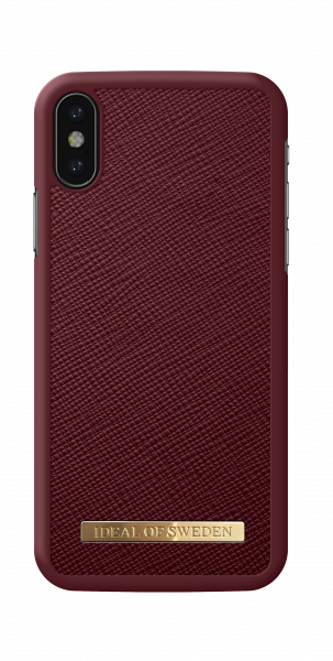iDeal of Sweden iPhone XS Fashion Case Saffiano Burgundy