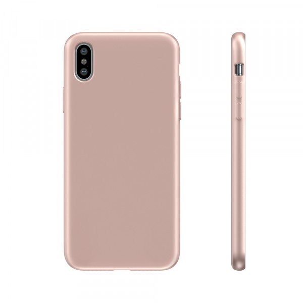 BeHello Liquid Silicon Case Roze voor iPhone Xs Max