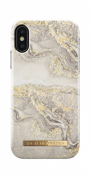 iDeal of Sweden iPhone XS/X Fashion Back Case Sparkle Greige Marble