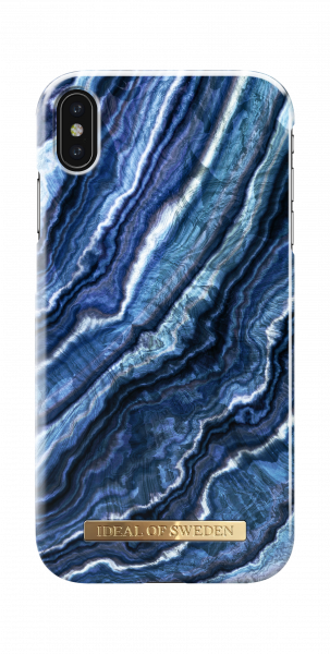 iDeal of Sweden iPhone XS Max Fashion Back Case Indigo Swirl