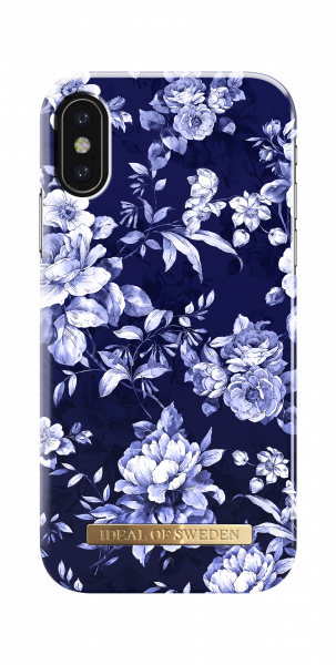 iDeal of Sweden iPhone Xs/X Fashion Back Case Sailor Blauw Bloom