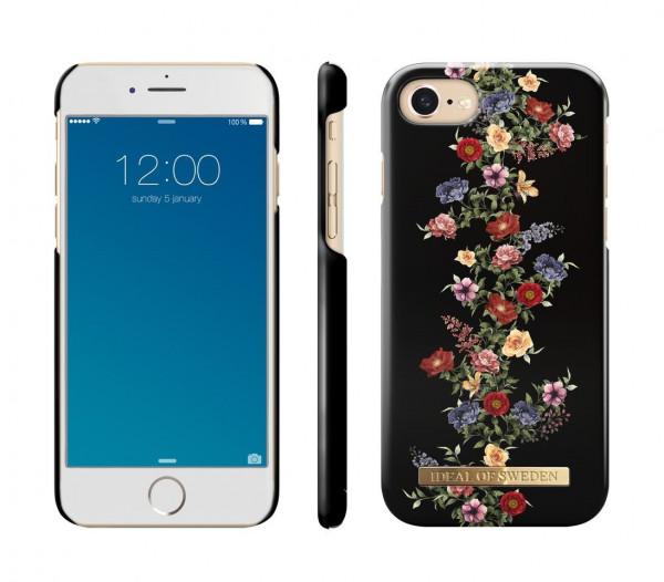 iDeal of SwedenFashion Back Case Dark Floral voor iPhone 8 / 7 / 6 / 6S