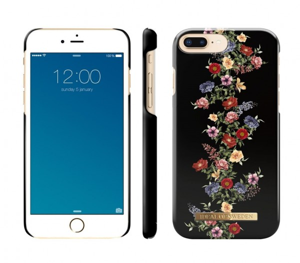 iDeal of Sweden Fashion Back Case Dark Floral voor iPhone 8 Plus / 7 Plus / 6S Plus / 6 Plus
