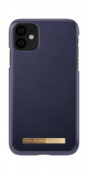 iDeal of Sweden iPhone 11 Fashion Back Case Saffiano Navy