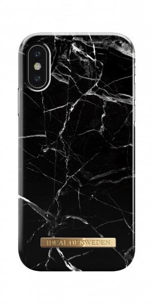 iDeal of Sweden iPhone XS/X Fashion Back Case Black Marble