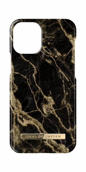 iDeal of Sweden iPhone 12 / 12 Pro Fashion Back Case Golden Smoke Marble
