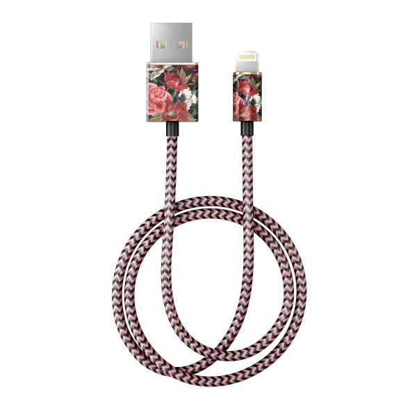 iDeal of Sweden Charge and Sync Lightning Fashion Cable 1m Antique Roses
