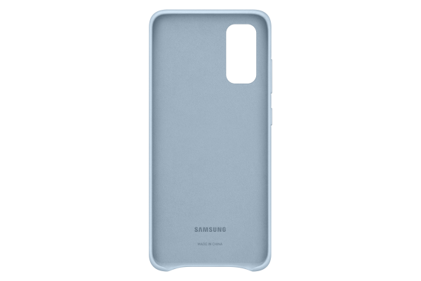 Samsung Galaxy S20 Leather Cover Sky Blue