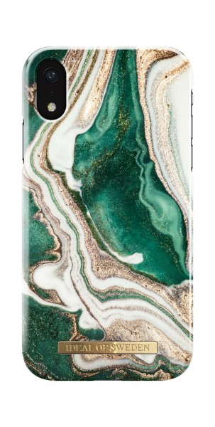 iDeal of Sweden Fashion Back Case Golden Jade Marble voor iPhone Xr