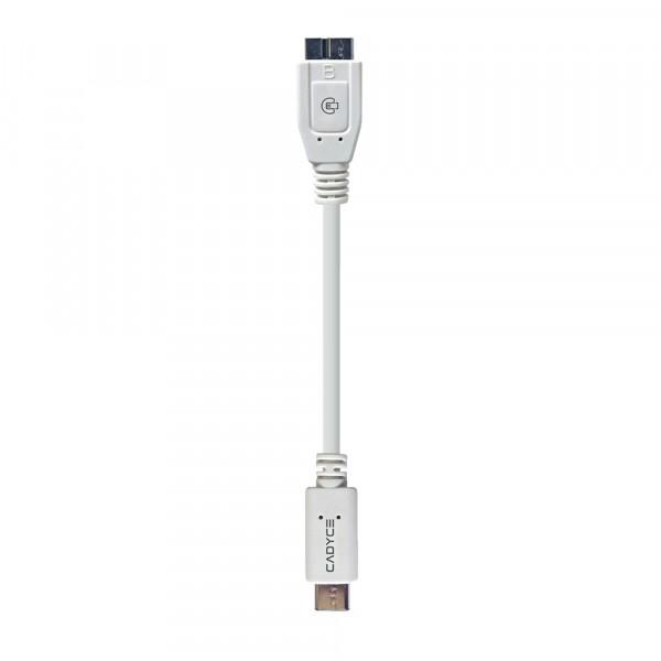Cadyce USB-C naar Micro USB B 3.0 Kabel 10GB/s gegevensoverdracht Stijlvol en compact design 1,2