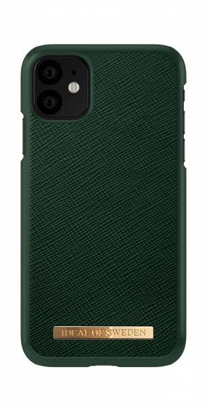 iDeal of Sweden iPhone 11 Fashion Case Saffiano Green