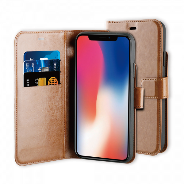 BeHello iPhone 11 Pro Gel Wallet Case Brown