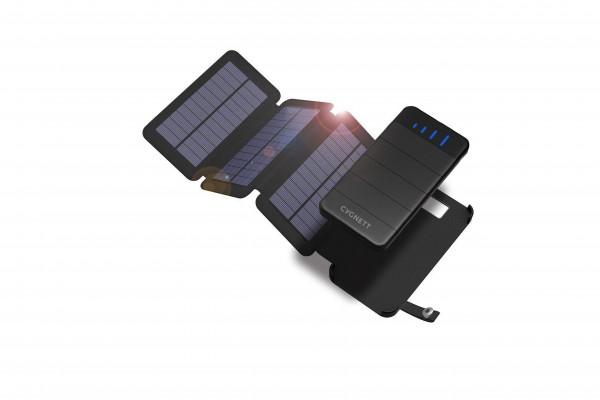 Cygnett Powerbank ChargeUp Explorer 8000mAh with 3 Solar Panels 29,6W Black