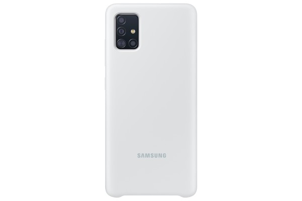 Samsung Galaxy A51 Silicone Cover Case White