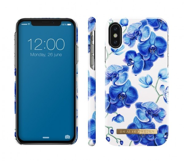 iDeal of Sweden Fashion Back Case Baby Blauw Orchid voor iPhone Xs X