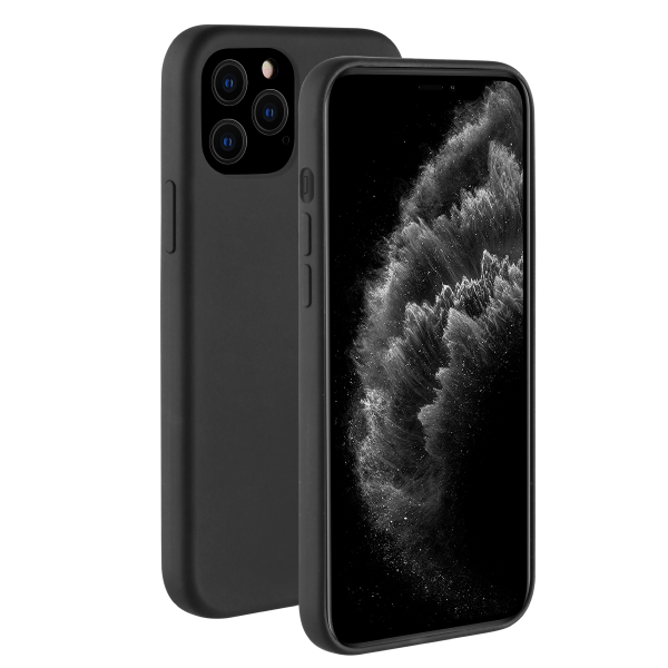 BeHello iPhone 12 / 12 Pro Liquid Silicone Case Zwart