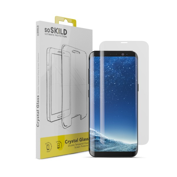 SoSkild Screenprotector Crystal Double Tempered Glass voor Samsung Galaxy S8