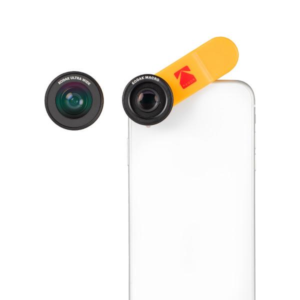 KODAK Smartphone Lens Set met Ultra Wide Angle Lens en Macro Lens - voor o.a. Apple, Samsung & Huawe