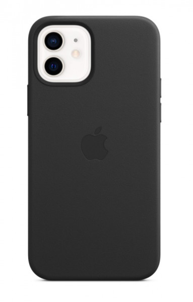 Apple iPhone 12 / 12 Pro Leather Case with MagSafe Black