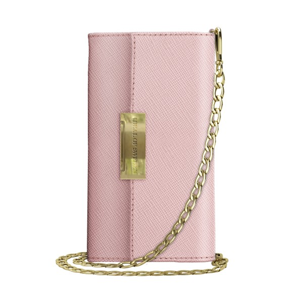 iDeal of Sweden iPhone Xr Crossbody Wallet Saffiano Pink