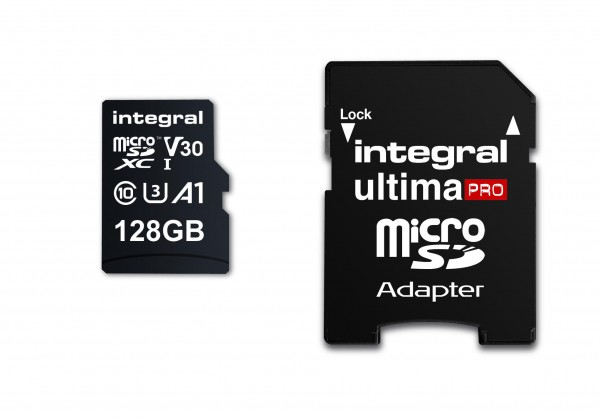 Integral Micro SD Geheugenkaart 128GB Voor smartphone en Tablet V30 Videosnelheid 100MB/s leessne