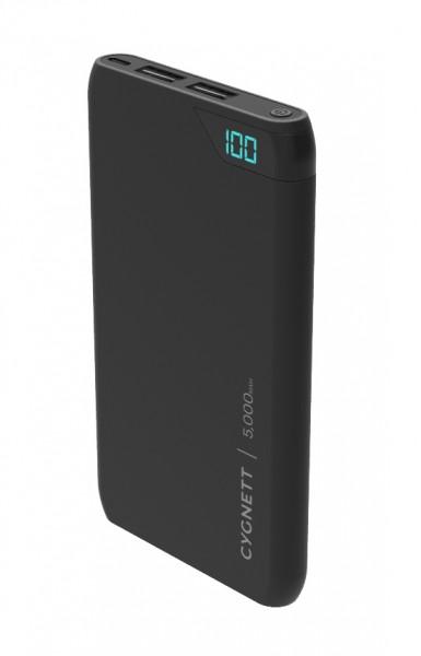 Cygnett Powerbank ChargeUp Boost 5.000 mAh met 2x USB 2.0 aansluitingen - Inclusief Micro USB-Kabel