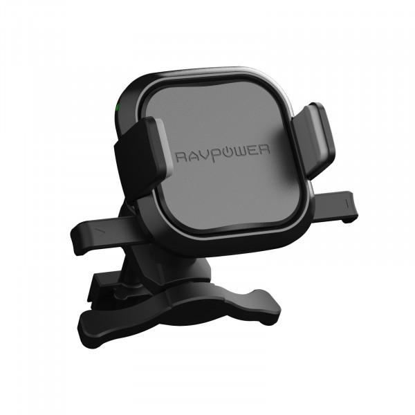 RAVPower Draadloze Autolader en Telefoonhouder voor in de Auto Luchtrooster 5W Zwart