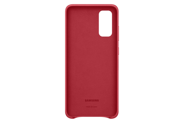 Samsung Galaxy S20 Leather Cover Red