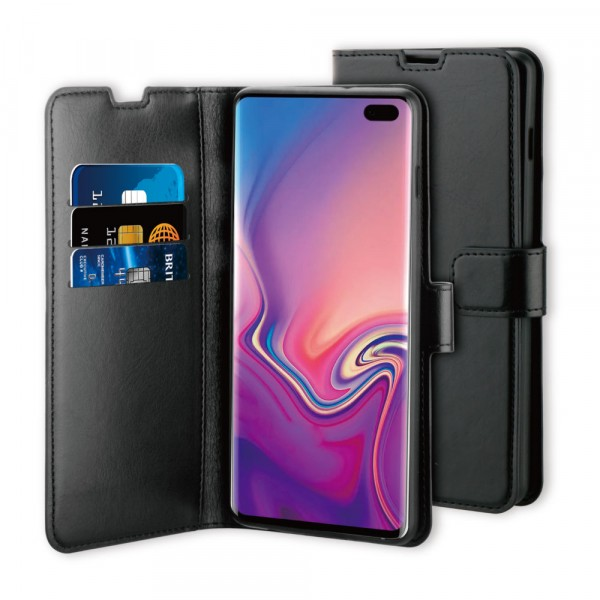 BeHello Samsung Galaxy S10+ Gel Wallet Case Black