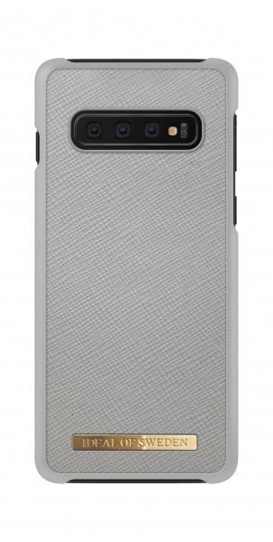 iDeal of Sweden Samsung Galaxy S10 Fashion Case Saffiano Light Grey