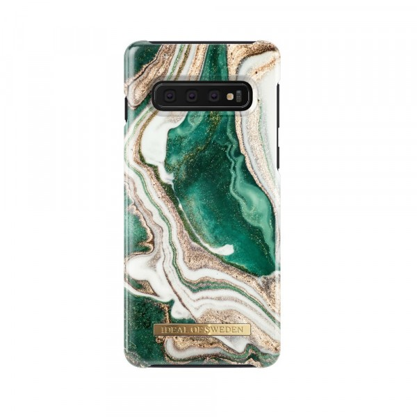 iDeal of Sweden Samsung Galaxy S10+ Fashion Back Case Golden Jade Marble