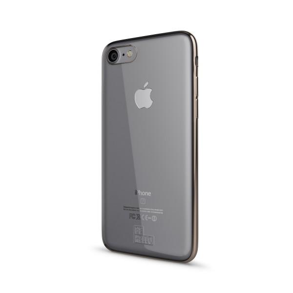 BeHello iPhone 8 7 6s 6 Gel Siliconen Hoesje Transparant met Gouden Rand